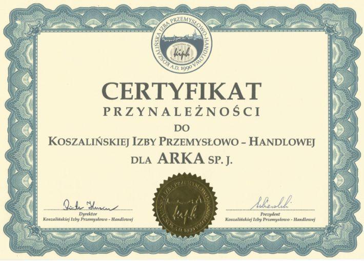 certyfikat przynależności do KIPH